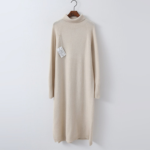 Hoega Cashmere N Wool Turtleneck Long Dress