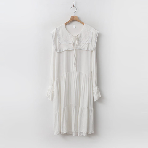 Sailor Collar Long Dress