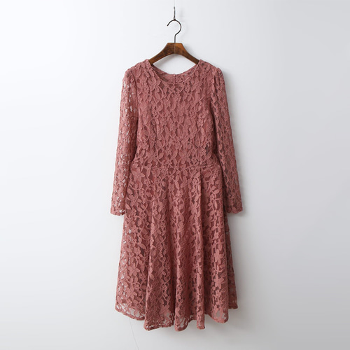 Flower Fit N Flare Lace Dress