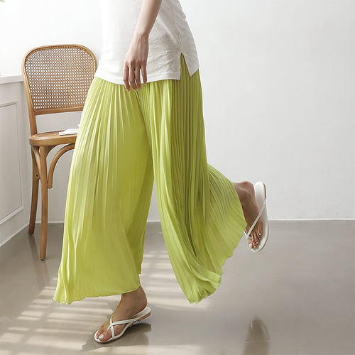 Super Pleatd Wide Pants - 치마바지