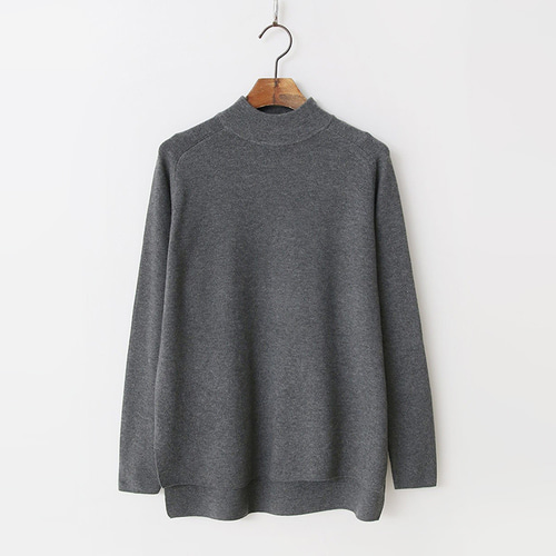 Wool N Cashmere Unbal Turtleneck