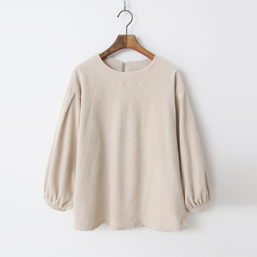 Corduroy Puff Blouse