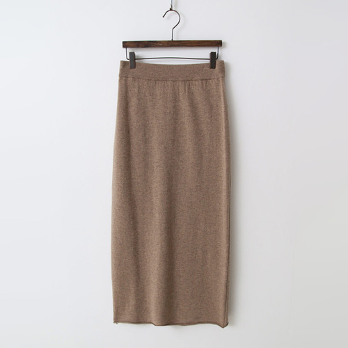 Cashmere N Wool Long Skirt