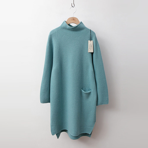 Laine Cashmere Wool Pocket Long Sweater