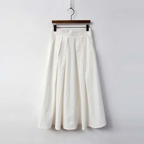Cotton Swing Pleated Skirt