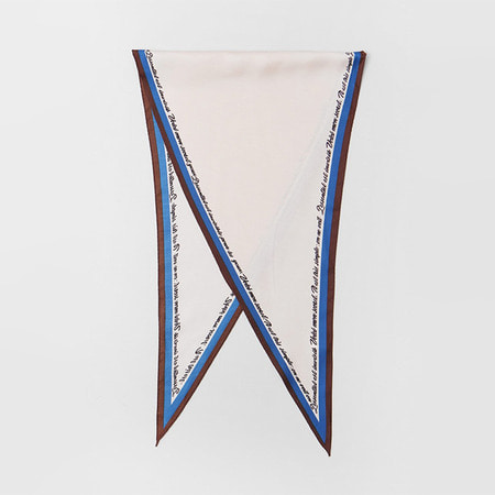 New Letter Diamond Scarf