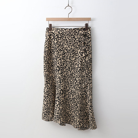 Leopard Unbal Skirt