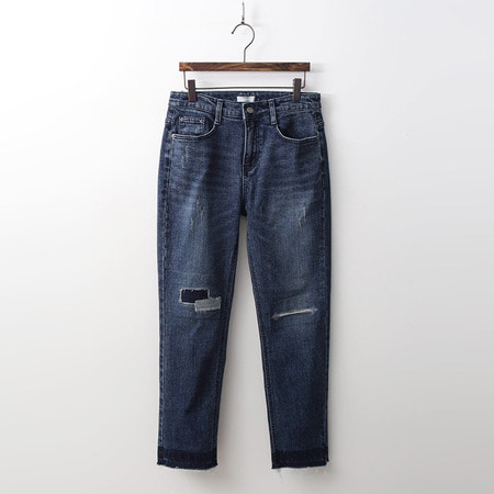 Patch Straight Jeans