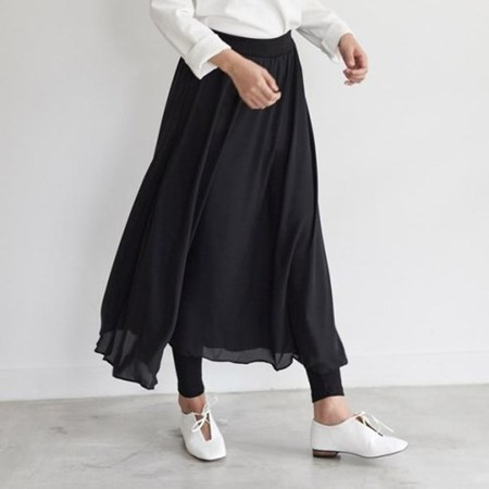 Silky Long Skirt Leggings
