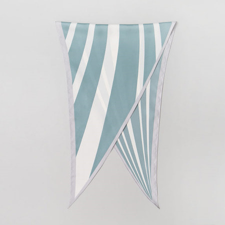 Paper Stripe Diamond Scarf