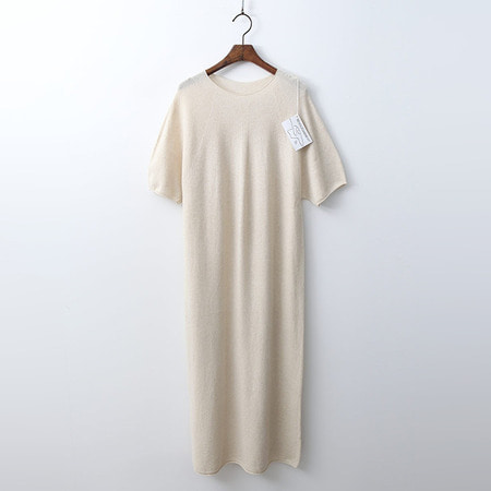 Hoega Cashmere N Wool Long Dress - 반팔