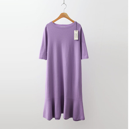 Hoega Wool Flare Knit Dress