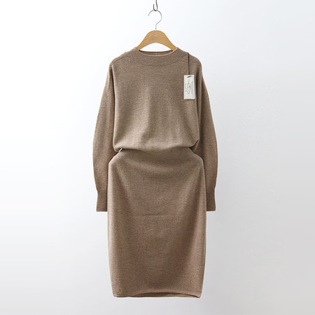 Hoega Cashmere Wool Coccon Knit Dress