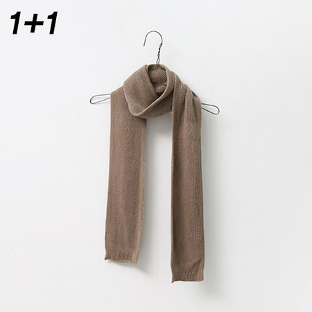 [1+1] Soft Mini Knit Muffler 2qty