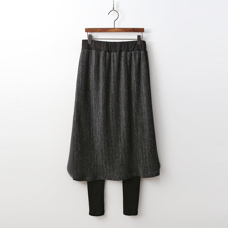 Winter Pleats Skirt Leggings
