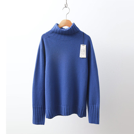 Hoega Cashmere Wool Basic Turtleneck Sweater