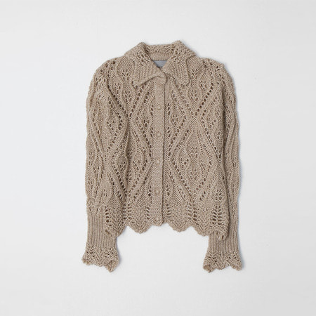 Wool Crochet Cardigan