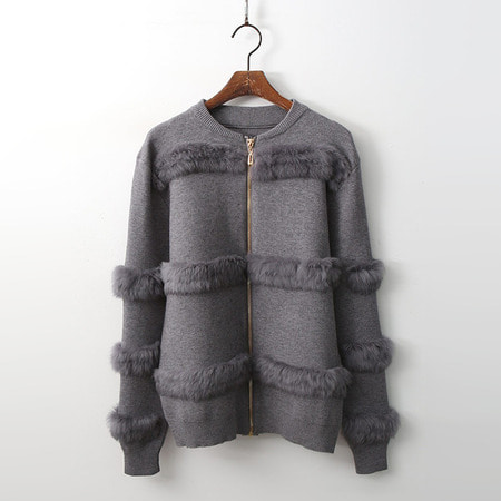 Rabbit Zip-Up Cardigan