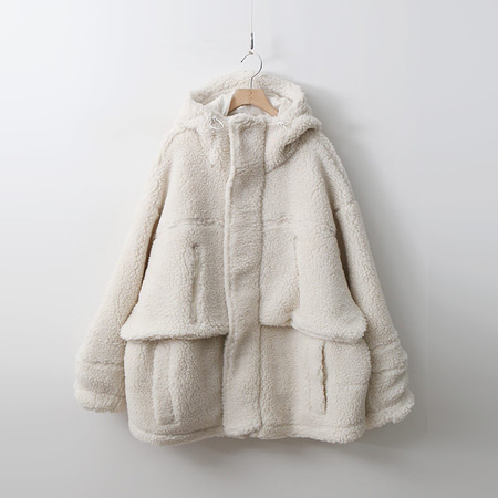 Shearling Hood Over Jumper