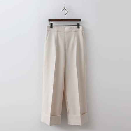 Cotton Cuffed Wide Pants