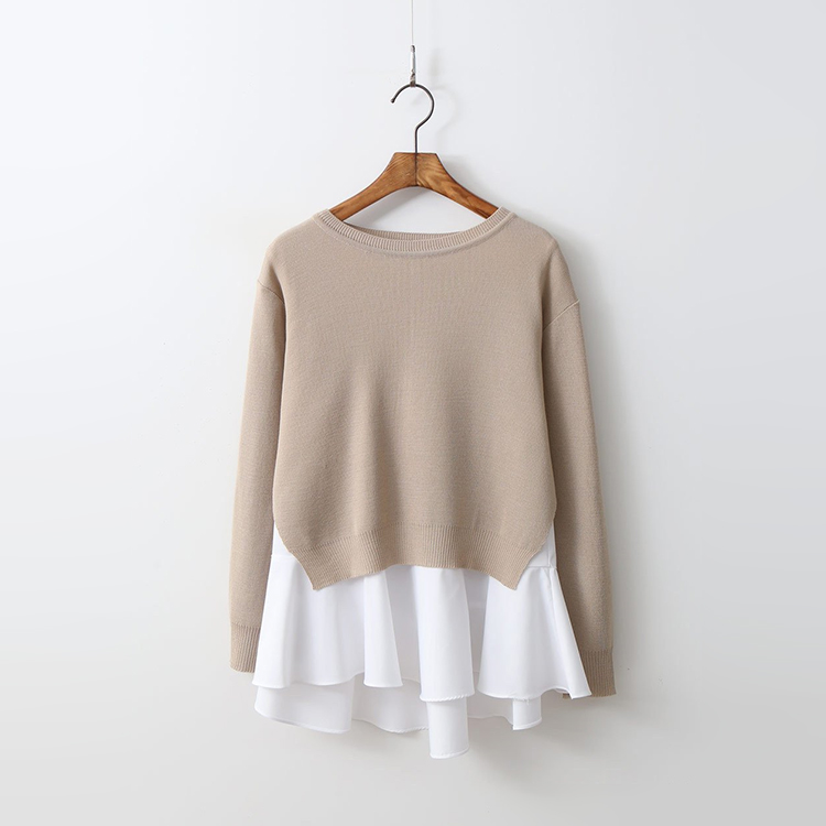 [Set] Wool Round Knit + A-line Top