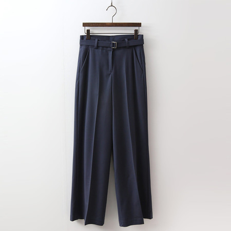 Belt Slim Wide Pants