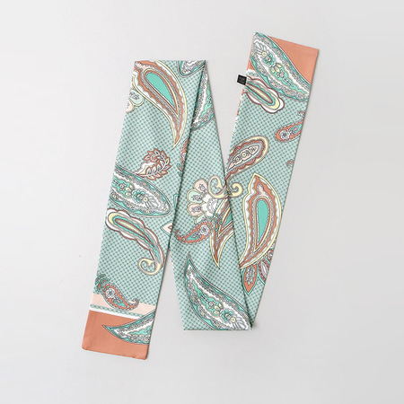 Fei Flower Long Tie Scarf
