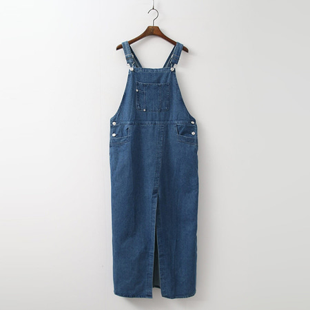 Denim Overalls Long Dress