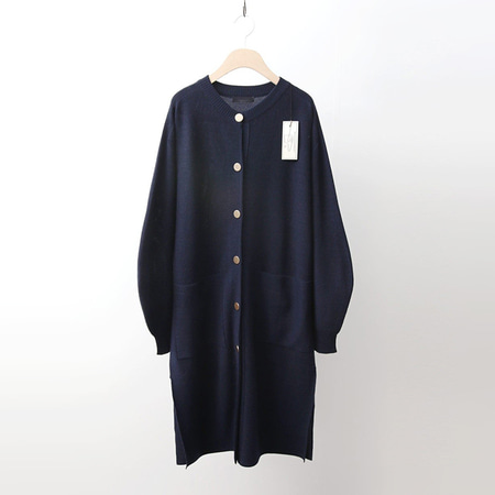 Hoega Wool Puff Long Cardigan