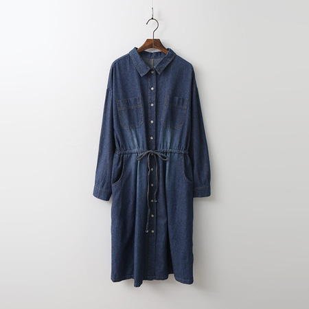 Pocket Denim Shirts Dress