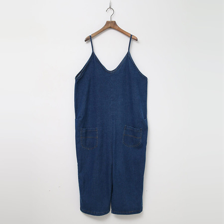 Denim Baggy Overalls
