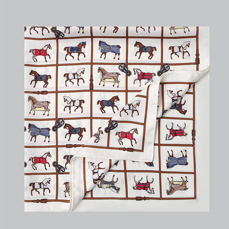 Cube Horse Square Scarf