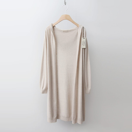 Hoega Wool Cashmere Hood Long Cardigan