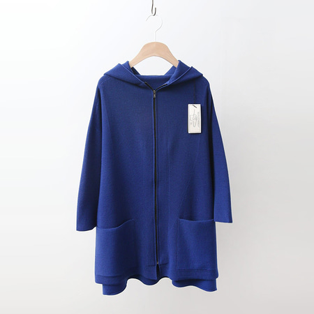 Hoega Wool Hood Zipper Cardigan