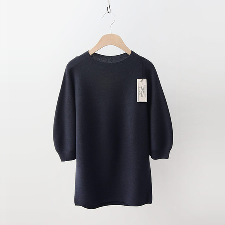 Hoega Wool Cashmere Volume Sweater - 7부소매