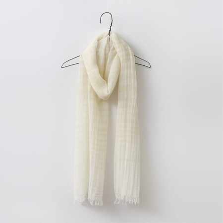 Linen N Cotton Stripe Scarf