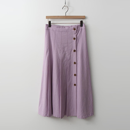 Linen Pleats Long Skirt
