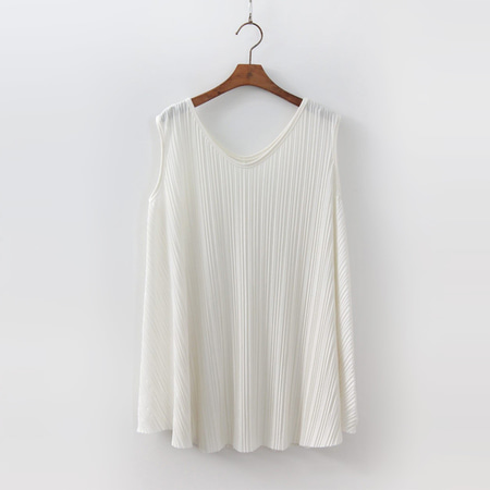 Pleats A-Line Top - 민소매