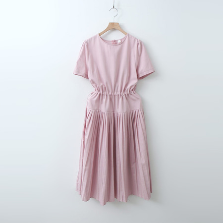 Cotton Pleats Long Dress  - 반팔