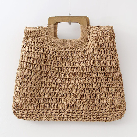 Rattan Shopper Tote Bag