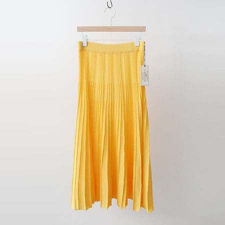 Hoega Linen Pleats Long Skirt