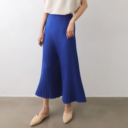 Hoega Wool Pleats Wide Pants