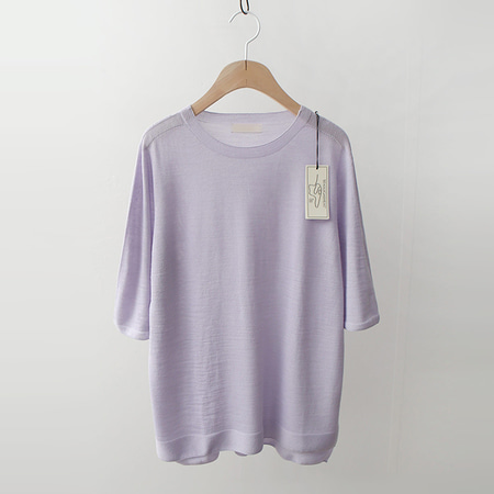 Hoega Wool Pastel Knit - 7부소매