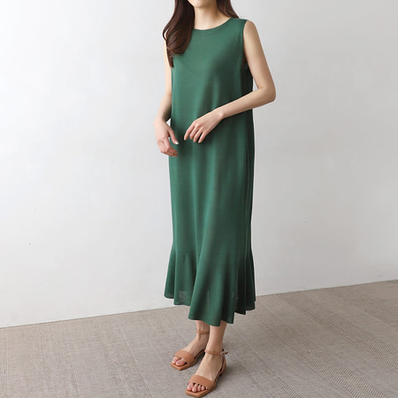 Hoega Flare Long Dress - 민소매