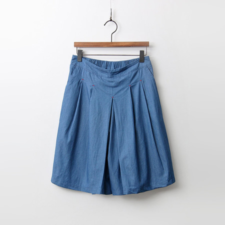 Cotton Denim Shorts - 치마바지