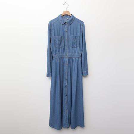 Melody Denim Shirts Long Dress