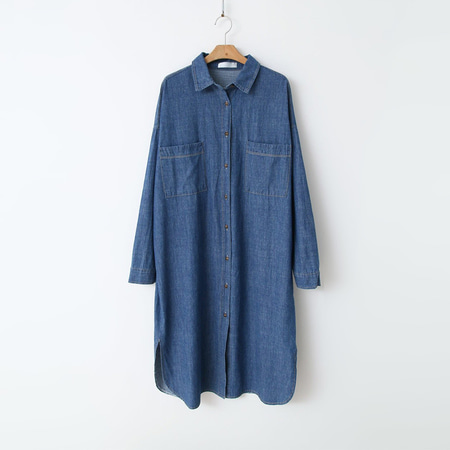 Denim Long Shits Dress