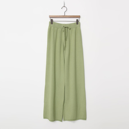 Wool Knit Wide Pants