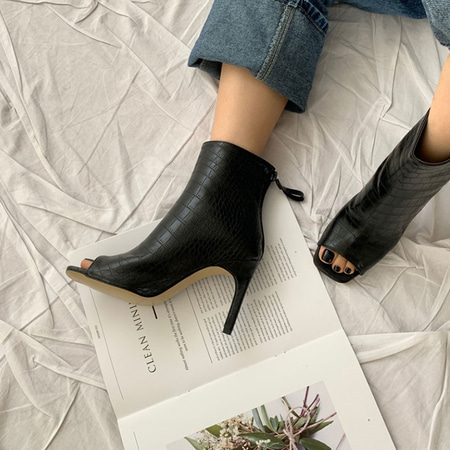 Anna Open-Toe Heel Booties