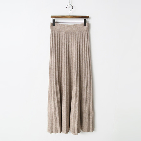 Knit Pleats Long Skirt